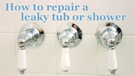 Fixing Leaky Tub Faucet by How To Repair A Leaky Shower Or Tub Faucet Pretty Handy