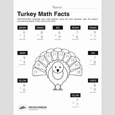 Thanksgiving Turkey Math Facts Worksheet  Paging Supermom