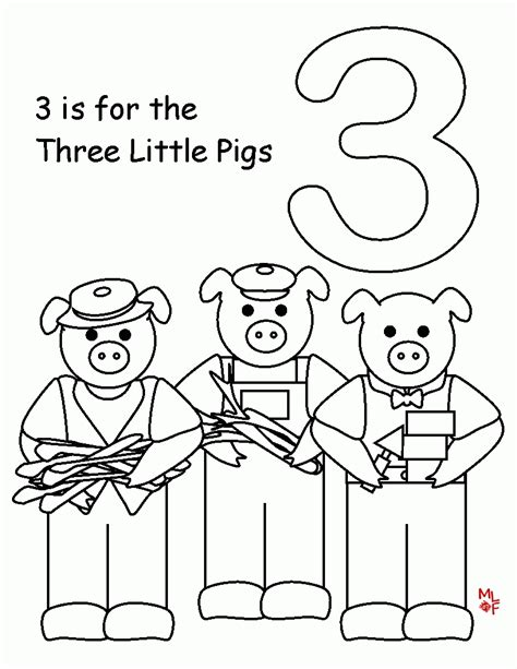 Papers Top 10 Free Printable Three Little Pigs Coloring