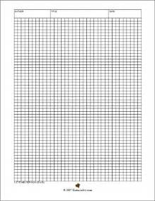 Crochet Patterns for Paper Printable Graph Templates