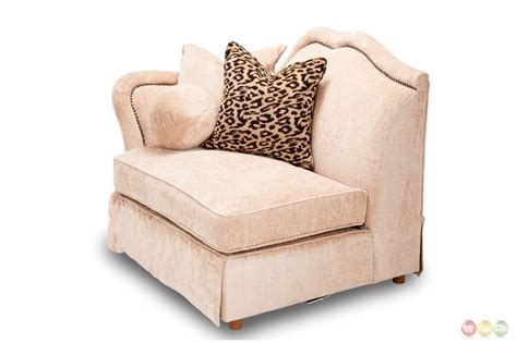 sectional sofa with nailhead trim toledo traditional 7 piece sectional sofa in beige with