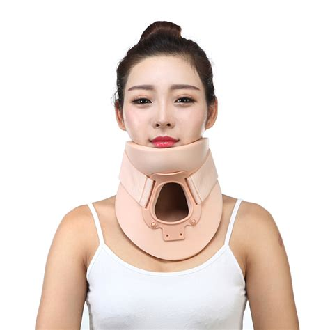 flexible l neck material neck support plastic air cervical neck brace support