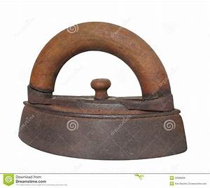 Antique Clothes Iron Isolated Royalty Free Stock Images