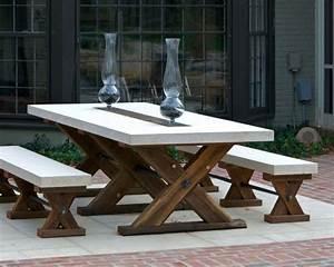 Adorable Wood Patio Furniture Ideas Featuring X Shape ...