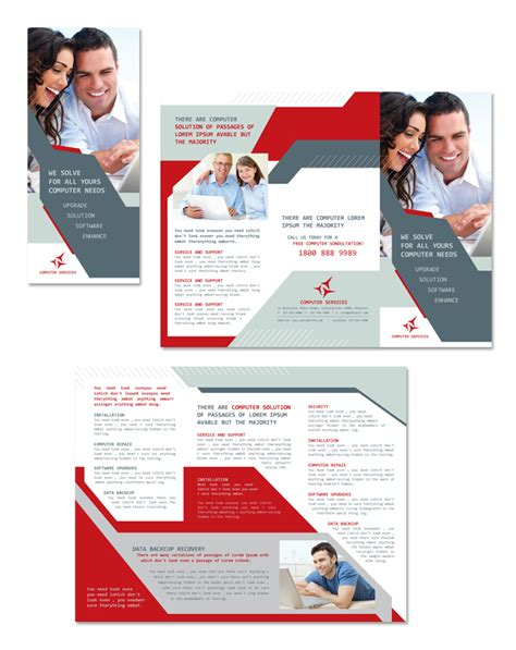 Software Solutions Tri Fold Brochure Template Word Computer Solutions Tri Fold Brochure Template