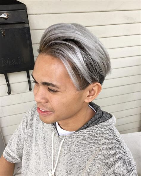 Mens Asymmetrical Haircut With Best Hair Color For Men