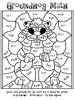 forest fun multiplication mosaics  pages  fun color