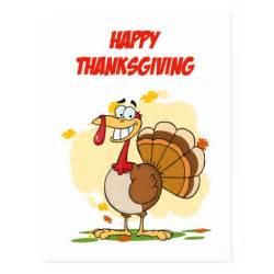happy thanksgiving turkey postcard zazzle
