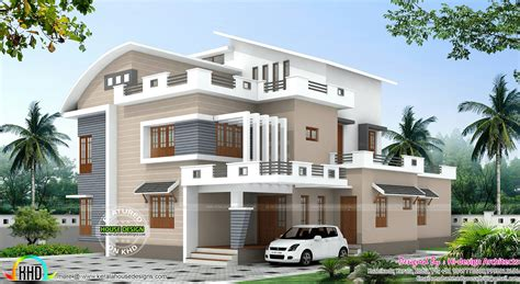 4 bedroom modern mix house plan