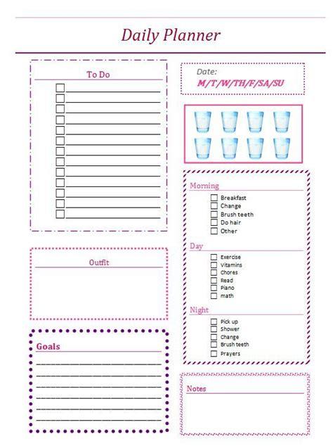 daily planner organizer organization tools pinterest