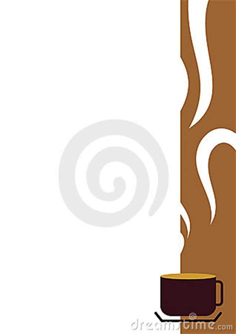 coffee cup border stock photography image