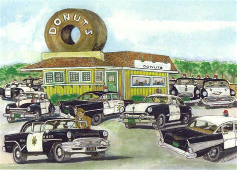 personalized cops  donuts art print