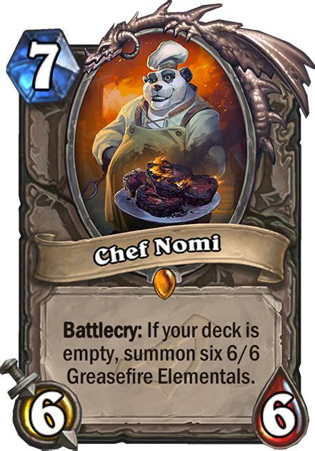 chef nomi hearthstone card hearthstone top decks