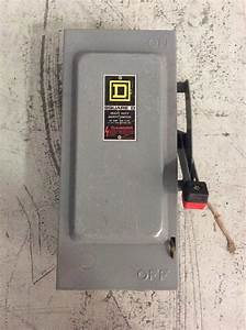 Square D Heavy Duty Safety Switch H321n 30 Amp 240 Volt