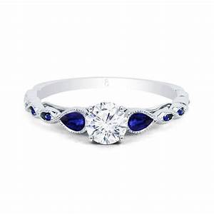 clara diamond blue sapphire ring diamond engagement With wedding ring sapphire