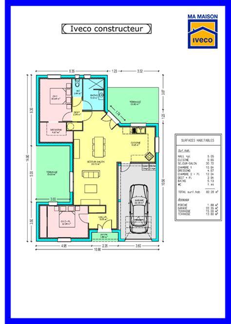 maison plein pied 4 chambres charmant plan maison plein pied 4 chambres 6