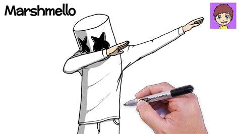 como dibujar  marshmello dabbing paso  paso dibujos  dibujar dibujos faciles youtube