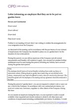resignation cipd hr inform