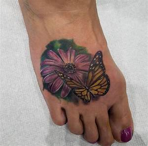 55+ Butterfly Flower Tattoos