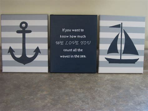 Sailboat Wall Decor Nursery by Nautical Nursery Wall Decor Baby Boy Nautical 8x10