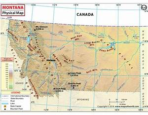 Buy Montana Physical Map online Downloadable Montana