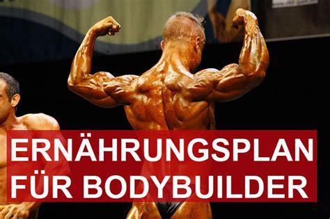 ernaehrungsplan fuer bodybuilder