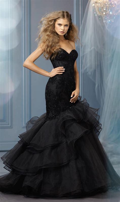 bridal fashion black wedding dresses