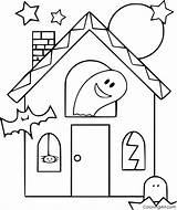 Haunted sketch template