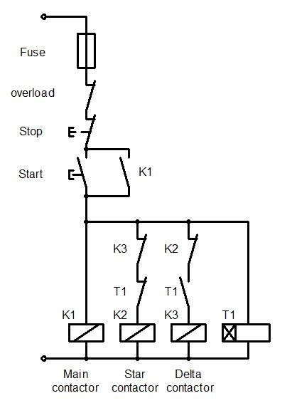 star delta starter control wiring electrical in 2019