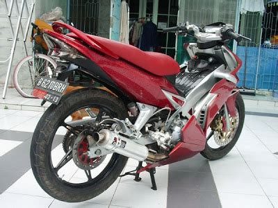 Modif Jupiter Mx Warna Merah by Modifikasi Motor Jupiter Mx Warna Merah Bukan Fiktif
