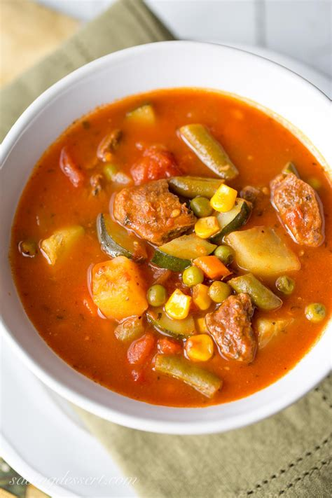 homemade vegetable beef soup recipe  crafts  recipes
