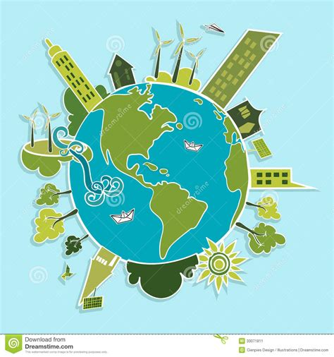 Green World Renewable Resources. Stock Image