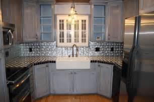 kitchen applying tin backsplash ideas for kitchen