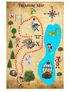 Jake and Neverland Pirates Treasure Map