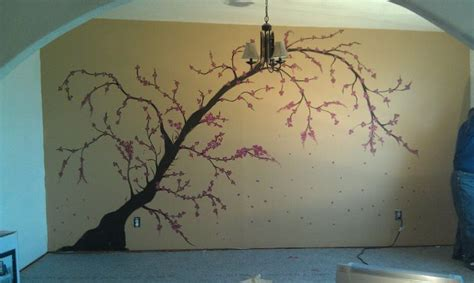 traditional bathroom ideas cherry blossoms wall mural craft ideas