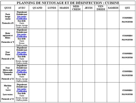attractive plan de nettoyage cuisine collective 5 4 2 1 planning desinf cuisine 2 gif