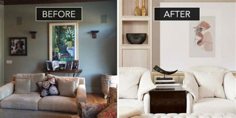 Before And After Of A Sophisticated Family Room