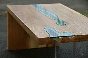 greg klassen39s beautiful river collection puts the live With live edge river coffee table