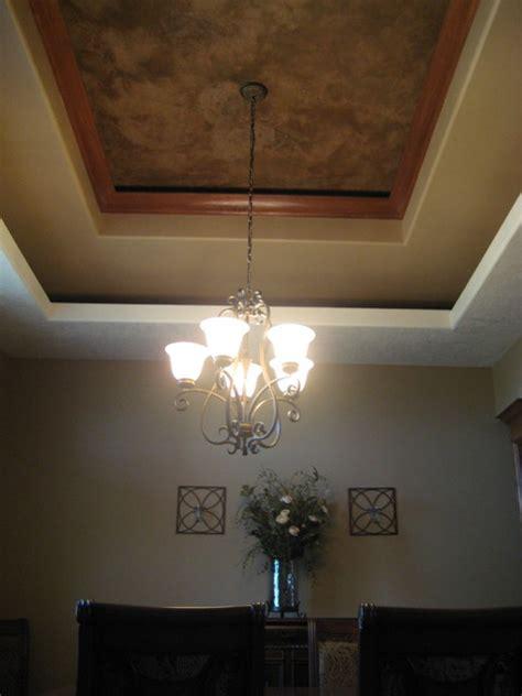 dining room tray ceiling italian venetian plaster
