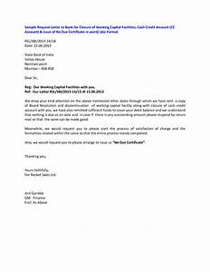 Request Letter For Closing Of Bank Account