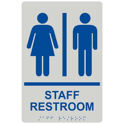 staff restroom  symbol braille sign rre