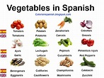 Colors in spanish: Vegetables in Spanish