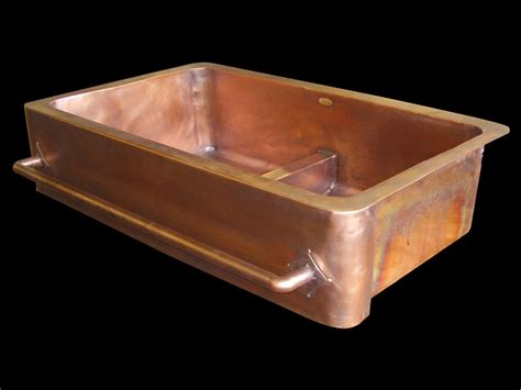 copper undermount farmhouse sink copper sinks by circle city copperworks custom copper sinks
