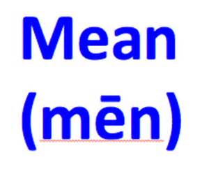 Meaning of the Word Mean