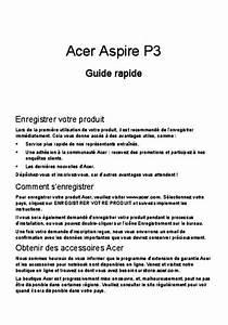 Notice Acer Aspire P3-171