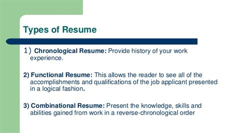 Chronological Resume Ppt by Resume Writing Ppt