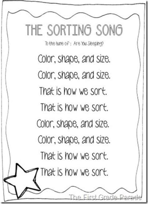 49 best math sorting and patterns images on 541 | aac7cec7bf1834e574ce392097c0b2df math songs kindergarten songs
