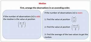 Statistics: Median (solutions, examples, videos)