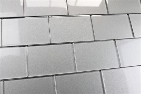 elements platinum glass subway tile contemporary wall