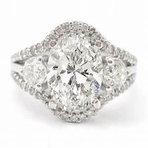 oval cut split shank diamond engagement ring o9 With oval diamond wedding ring